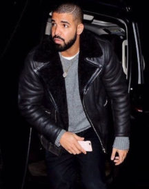 Drake Shearling Leather Jacket