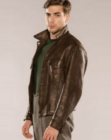 Dustin Milligan X Company Leather Jacket