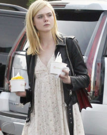 Elle Fanning Motorcycle Leather Jacket