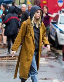 Emma Stone Mustard Trench On Maniac Coat