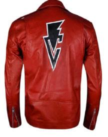 Fergal Devitt Motorcycle Red Leather Jacket
