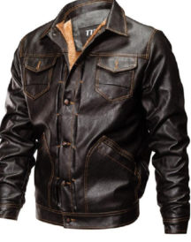 Fleece Warm Thick Winter Faux Leather Jacket