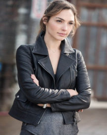 Gal Gadot Fast Furious 6 Black Leather Jacket