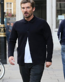 Gwilym Lee Stylish Black Jacket