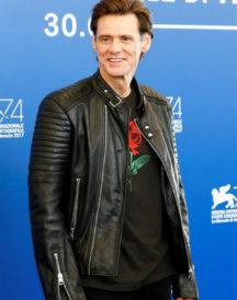Jim Carrey Motorcycle Leather Jacket