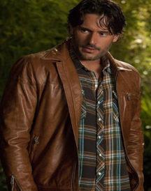 Joe Manganiello True Blood Brown Leather Jacket