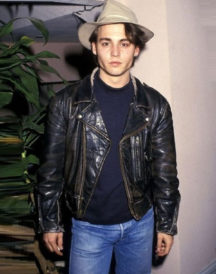 Johnny Depp Black Leather Jacket