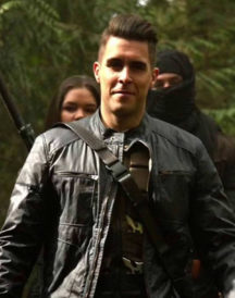 Josh Segarra Arrow Padded Leather Jacket