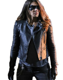 Juliana Harkavy Arrow Black Leather Jacket