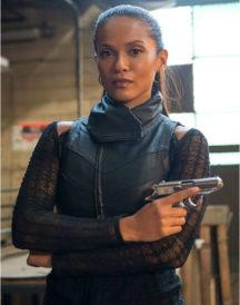 Lesley-Ann Brandt Gotham Black Leather Vest