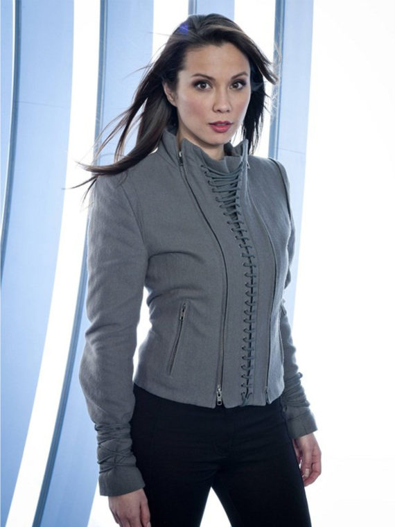 Lexa Doig Continuum Series Grey Jacket