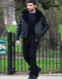 Liam Payne Shearling Black Jacket