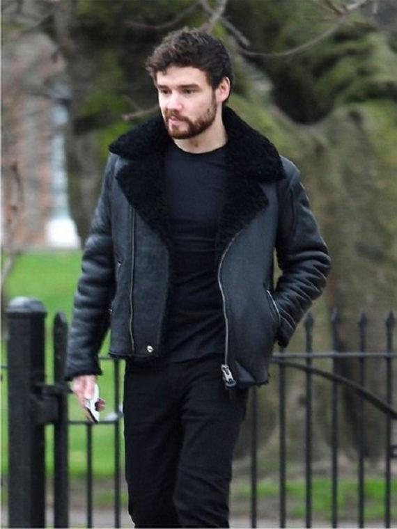 Liam Payne Shearling Leather Jacket