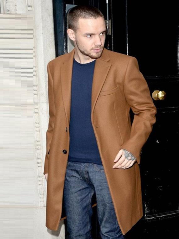 Liam Payne Street Fashion Brown Cotton Coat