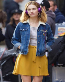 Lily James Baby Blue Jacket