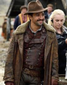 Lin-Manuel Miranda Leather Coat in His Dark Materials TV Series