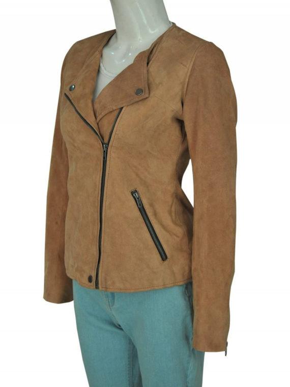Linda Cardellini Dead Me Suede Brown Jacket
