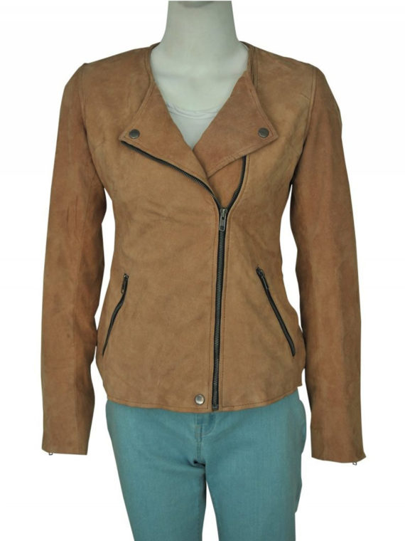Linda Cardellini Dead to Me Brown Jacket