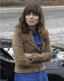 Linda Cardellini Dead to Me Suede Brown Jacket