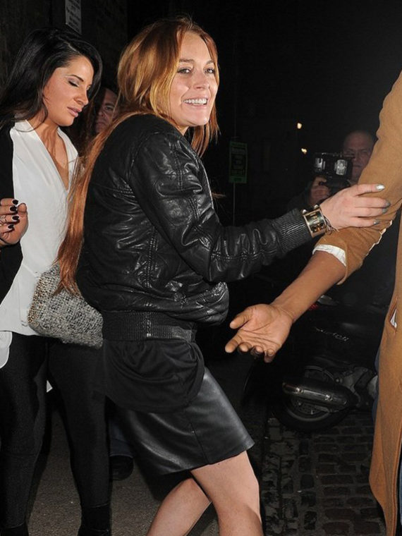 Lindsay Lohan Bomber Jacket