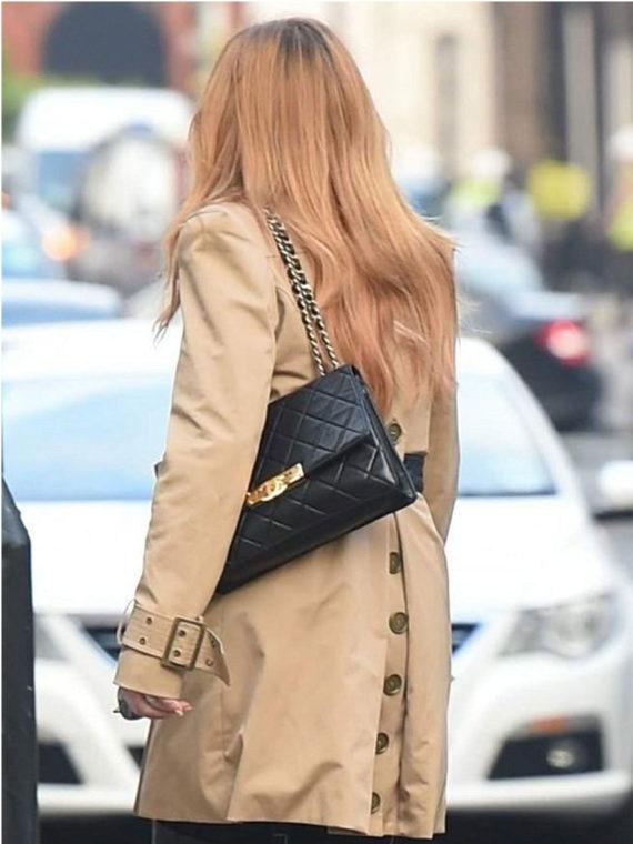 Lindsay Lohan Double Breasted Coat