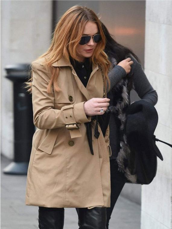 Lindsay Lohan Double Coat