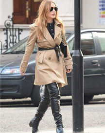 Lindsay Lohan Double Trench Coat