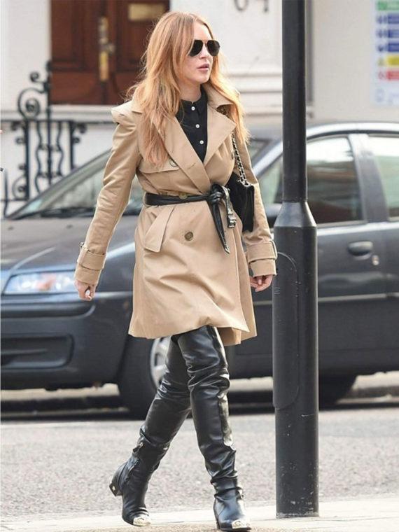 Lindsay Lohan Double Trench Coat