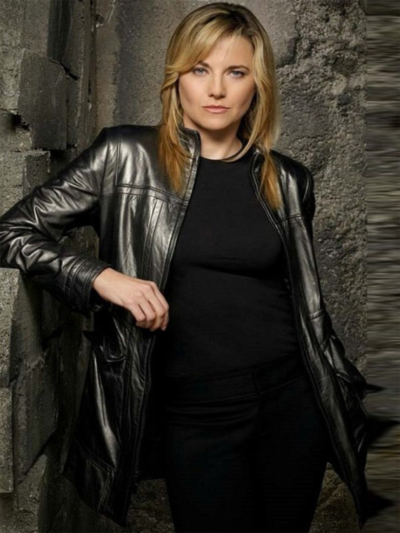 Lucy Lawless Battlestar D'Anna Biers Coat