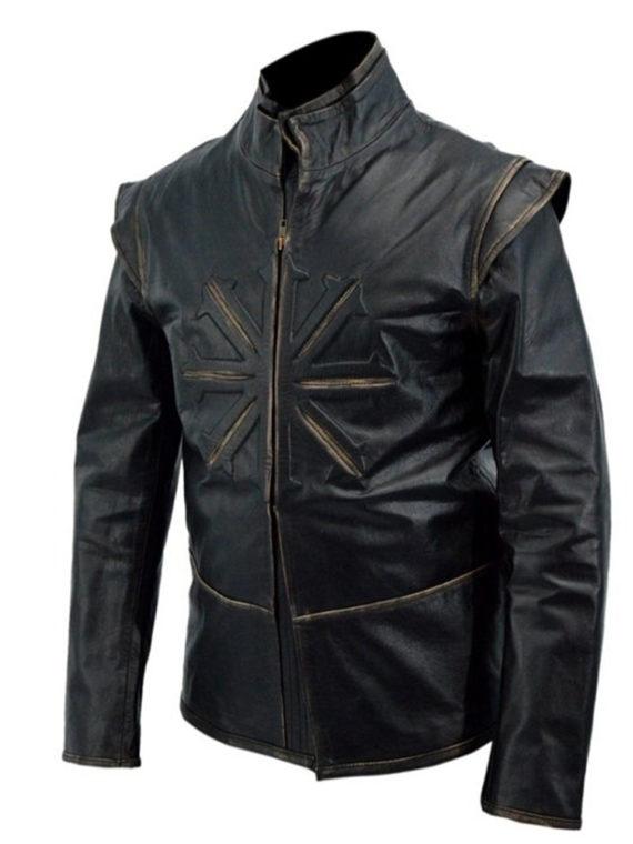 Luke Evans Dracula Untold Black Leather Jacket