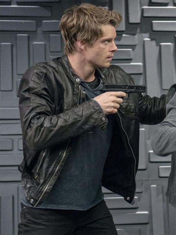 Luke Mitchell The Tomorrow People Black Leather Jacket