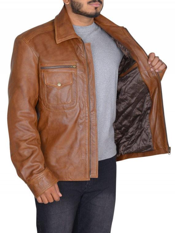 Mads Mikkelsen Brown Jacket