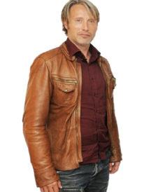 Mads Mikkelsen Leather Jacket