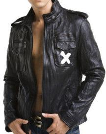 Manny Montana Lucife Pops Black Leather Jacket
