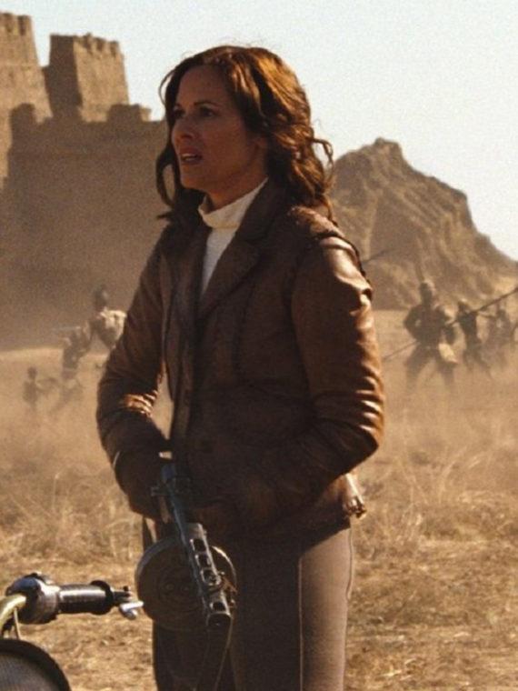 Maria Bello Mummy 3 Leather Jacket