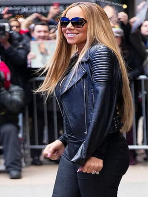 Mariah Carey Padded Design Jacket