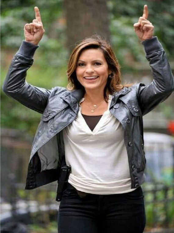Mariska Hargitay Law & Leather Jacket