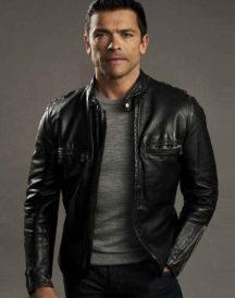 Mark Consuelos Riverdale Black Leather Jacket