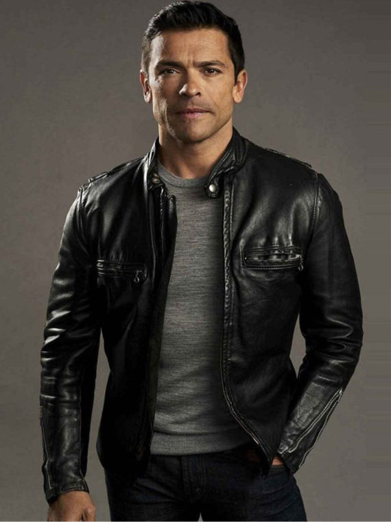 Mark Consuelos Riverdale Black Leather Jacket
