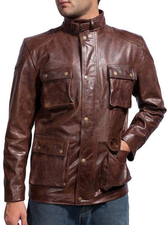 Mark Wahlberg Four Leather Jacket