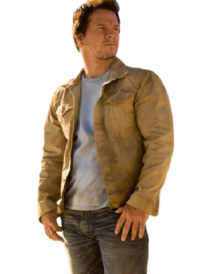 Mark Wahlberg Transformers Brown Cotton Jacket