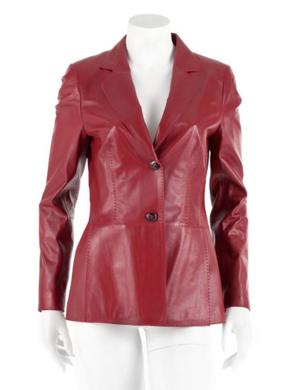 Maroon classic Blazer For women