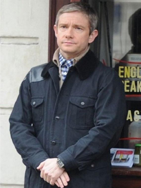 Martin Freeman Sherlock Drama Series Jacket