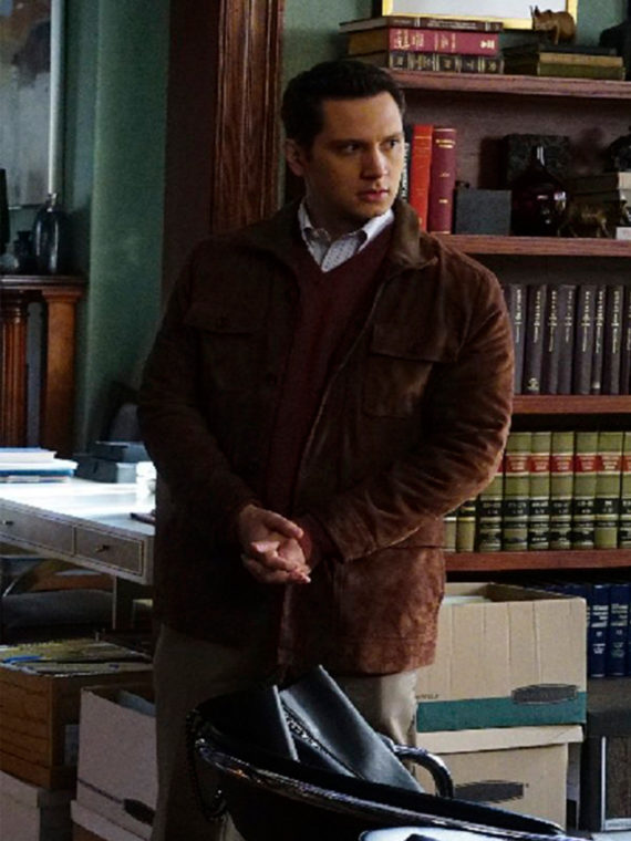 Matt McGorry Brown Suede Leather Jacket