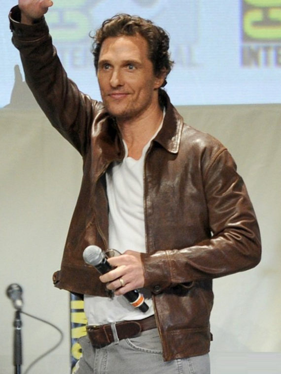Matthew McConaughey Brown Jacket