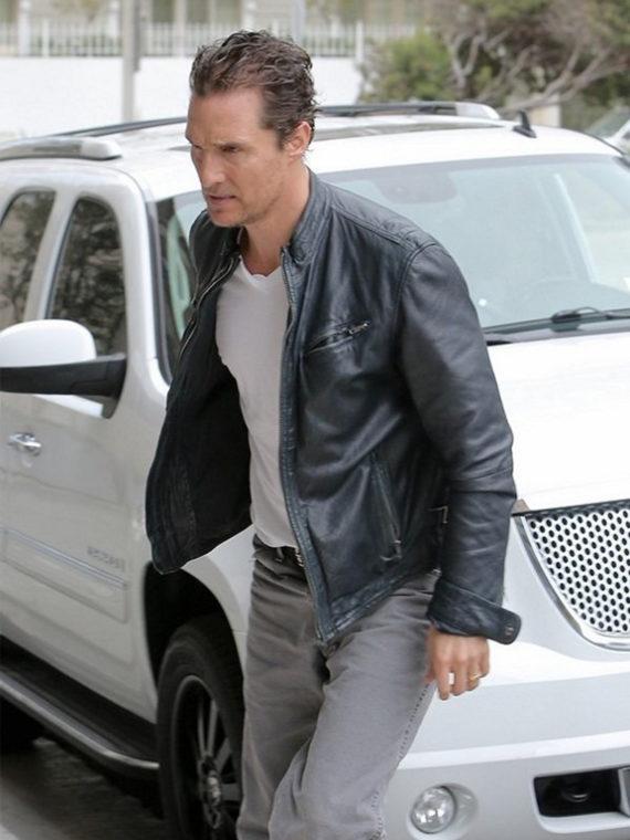 Matthew McConaughey True Detective Leather Jacket