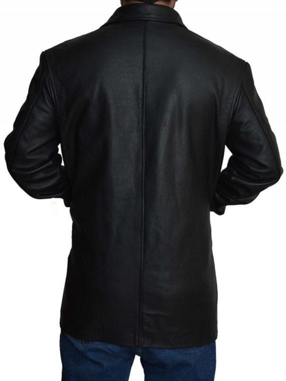 Max Payne Mark Wahlberg Black Leather Jacket