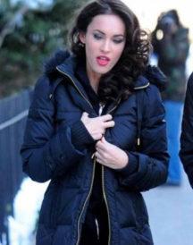 Megan Fox Black Smart Coat