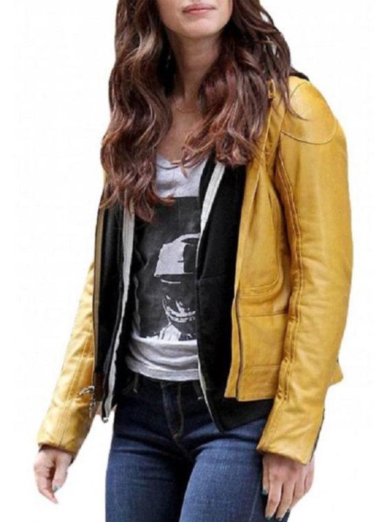 Megan Fox Synthetic Leather Jacket