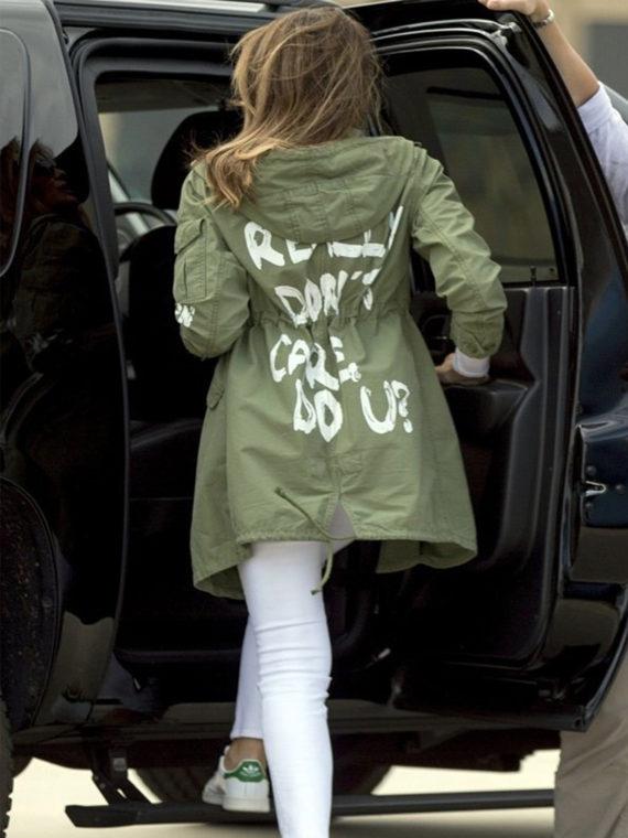 Melania Trump I Really Dont Do U Coat
